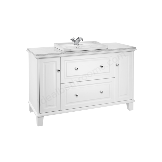 Roca Carmen Vanity 1300mm Base Unit - White Satin