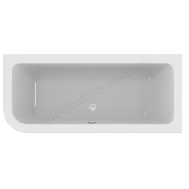 Ideal Standard Concept 170 x 75Cm  Idealform Plus+ Asymmetric Bath RH - No Tapholes