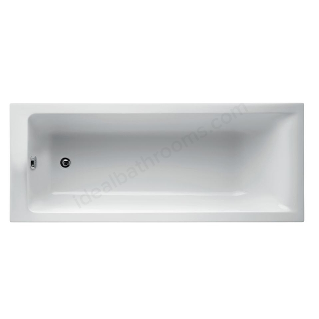 Ideal Standard Concept 180 X 80Cm  Idealform Plus+ Rectangular Bath - No Tapholes