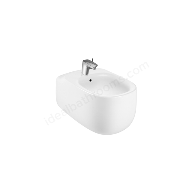 Roca Beyond wall-hung bidet  - 1 Taphole; With Holes