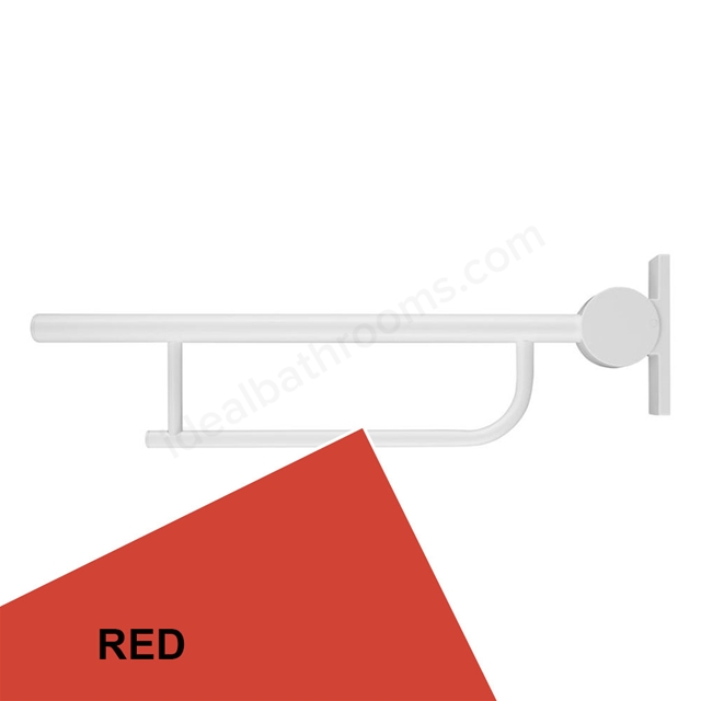 Ideal Standard Contour 21 80Cm Hinged Support Arm - Red