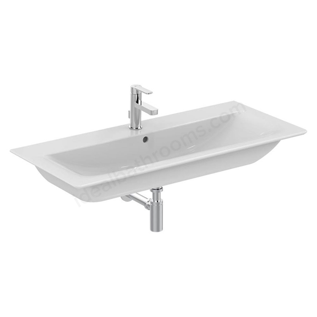 Ideal Standard CONCEPT AIR Vanity Washbasin; 1 Tap Hole; 1040mm; White