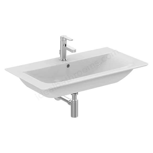 Ideal Standard CONCEPT AIR Vanity Washbasin; 1 Tap Hole; 840mm; White