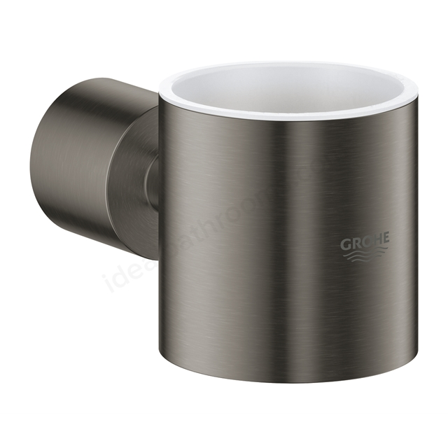GROHE ATRIO GLASS HOLDER BRUSHED HARD