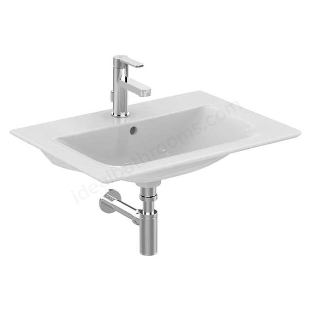 Ideal Standard CONCEPT AIR Vanity Washbasin; 1 Tap Hole; 640mm; White