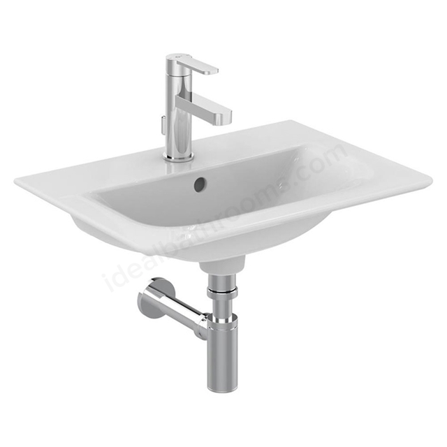 Ideal Standard CONCEPT AIR Mini Vanity Washbasin; 1 Tap Hole; 500mm; White