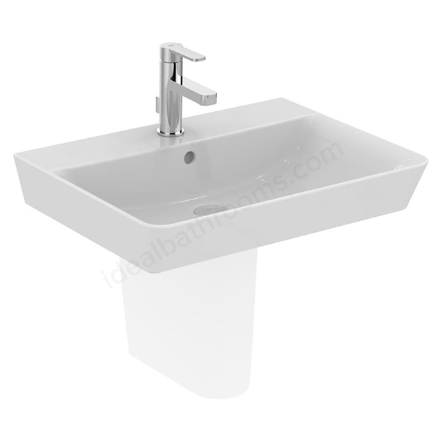 Ideal Standard CONCEPT AIR Cube Washbasin; 1 Tap Hole; 600mm; White