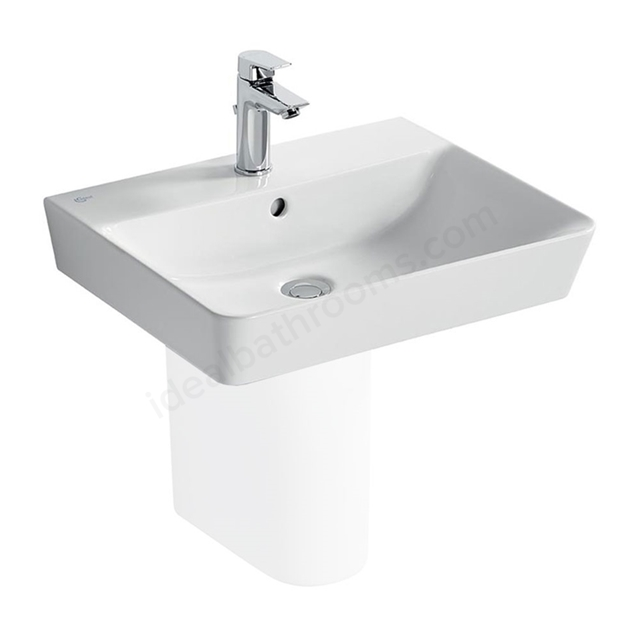 Ideal Standard CONCEPT AIR Cube Washbasin; 1 Tap Hole; 550mm; White