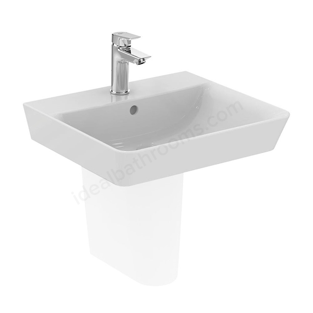 Ideal Standard CONCEPT AIR Cube Washbasin; 1 Tap Hole; 500mm; White