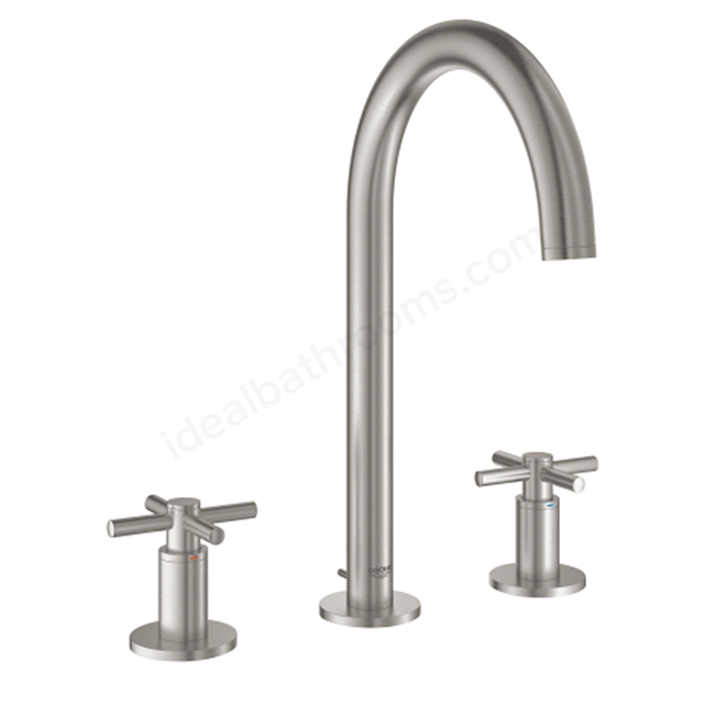 Grohe Atrio 3 Hole Wall Mount Basin Mixer