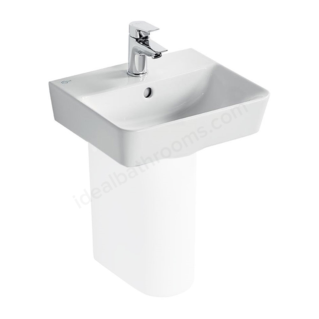 Ideal Standard CONCEPT AIR Cube Handrinse Basin; 1 Tap Hole; 400mm; White