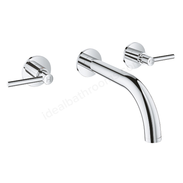 Grohe Atrio 3 Hole 2 Handle Trimset Basin Mixer 20169003 - Chrome