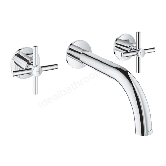 Grohe Atrio 3 Hole 2 Handle Trimset Basin Mixer 20164003 - Chrome
