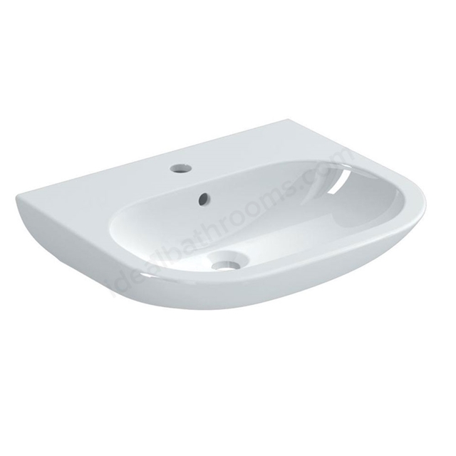 Ideal Standard SOFTMOOD Oval Washbasin, 1 Tap Hole, 550mm, White