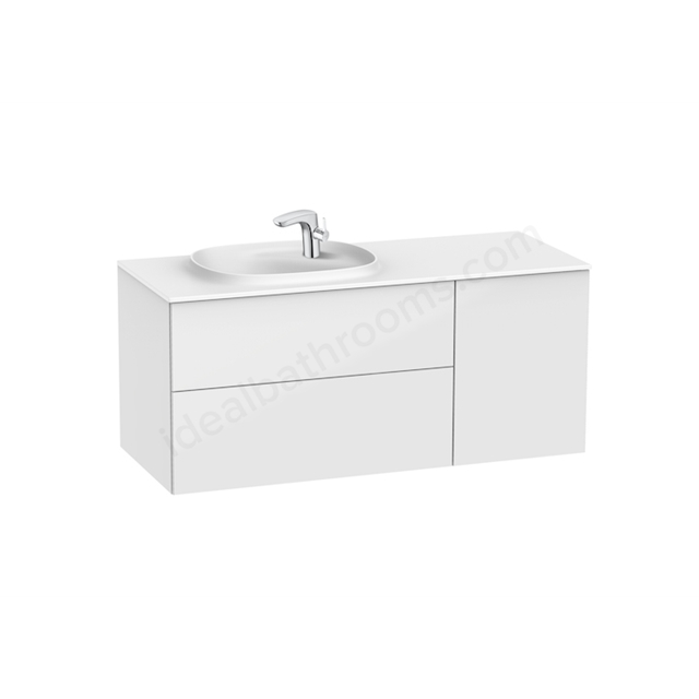 Roca Unik Beyond Solid Surface 1200 Left Glossy White