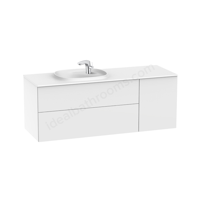 Roca Unik Beyond Solid Surface 1400 Left Glossy White