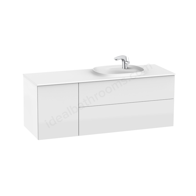 Roca Unik Beyond Solid Surface 1400 Right Glossy White