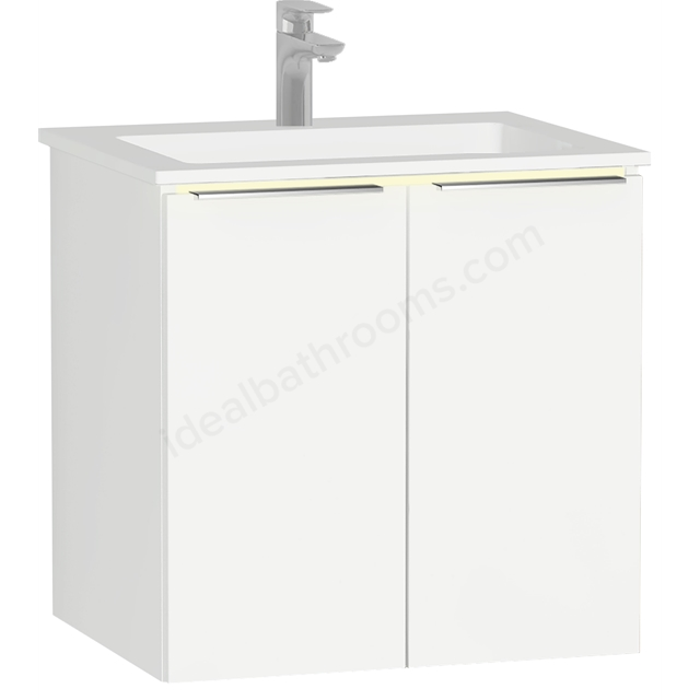 Vitra Ecora Mineral Cast Washbasin Unit 60 Cm With Doors With Infinit Washbasin
