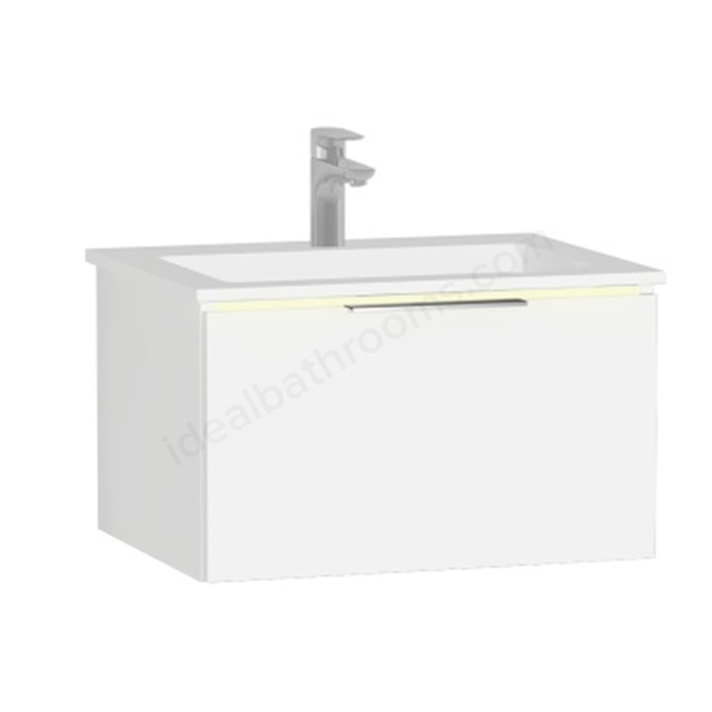 Vitra Ecora Mineral Cast Washbasin Unit 60 Cm With 1 Drawer With Infinit Washbasin
