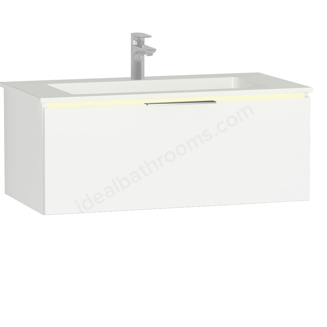 Vitra Ecora Mineral Cast Washbasin Unit 90 Cm With 1 Drawer With Infinit Washbasin