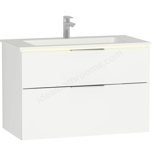 Vitra Ecora Mineral Cast Washbasin Unit 90 Cm With 2 Drawers With Infinit Washbasin