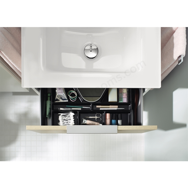 Vitra Ecora Mineral Cast Washbasin Unit 60 Cm With 2 Drawers With Infinit Washbain