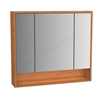 VitrA Integra Mirror Cabinet 80cm; High Gloss White & Bamboo