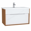 Vitra Integra Washbasin Unit 80 Cm With 1 Drawer With Vanity Basin White