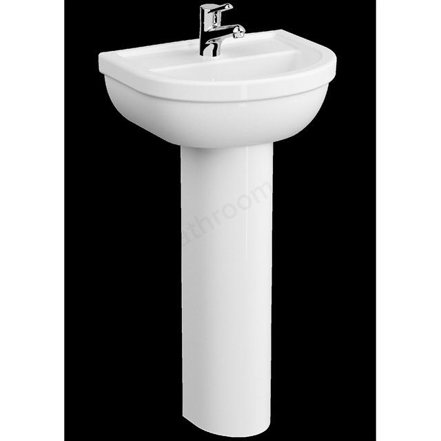 VitrA Milton 450mm Washbasin 1 Tap Hole