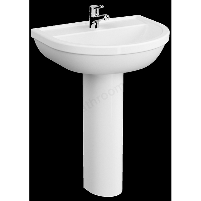 VitrA Milton 600mm Washbasin 1 Tap Hole