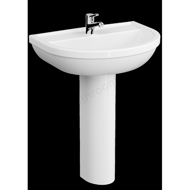VitrA Milton 650mm Washbasin 1 Tap Hole