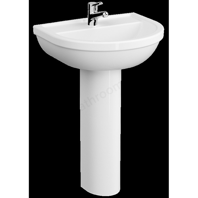 VitrA Milton 550mm Washbasin 1 Tap Hole