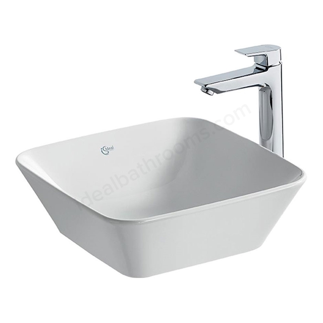 Ideal Standard CONCEPT AIR Cube Vessel Basin; 0 Tap Hole; 400mm; White