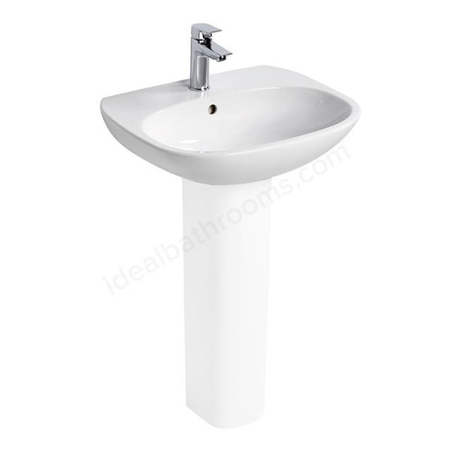 Ideal Standard TESI Washbasin; 1 Tap Hole; 600mm; White