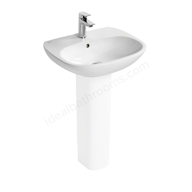 Ideal Standard TESI Washbasin; 1 Tap Hole; 550mm; White