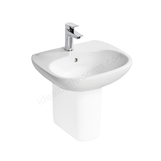 Ideal Standard TESI Washbasin; 1 Tap Hole; 500mm; White