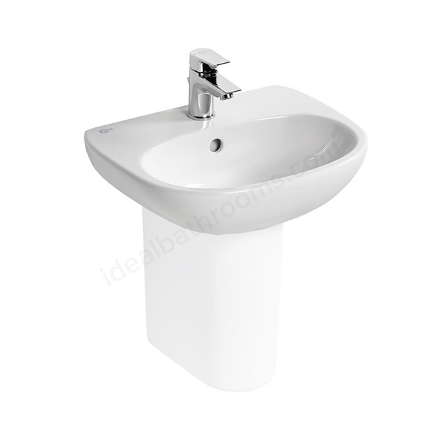 Ideal Standard TESI Handrinse Basin; 1 Tap Hole; 450mm; White