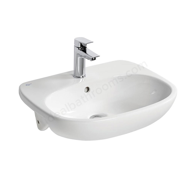 Ideal Standard TESI Semi Countertop Basin; 1 Tap Hole; 550mm; White
