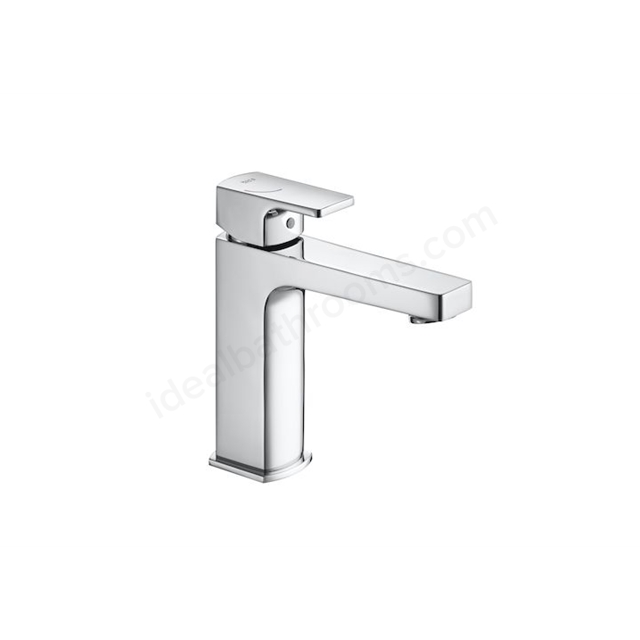 Roca L90C Medium height basin mixer with smooth body and 1/2