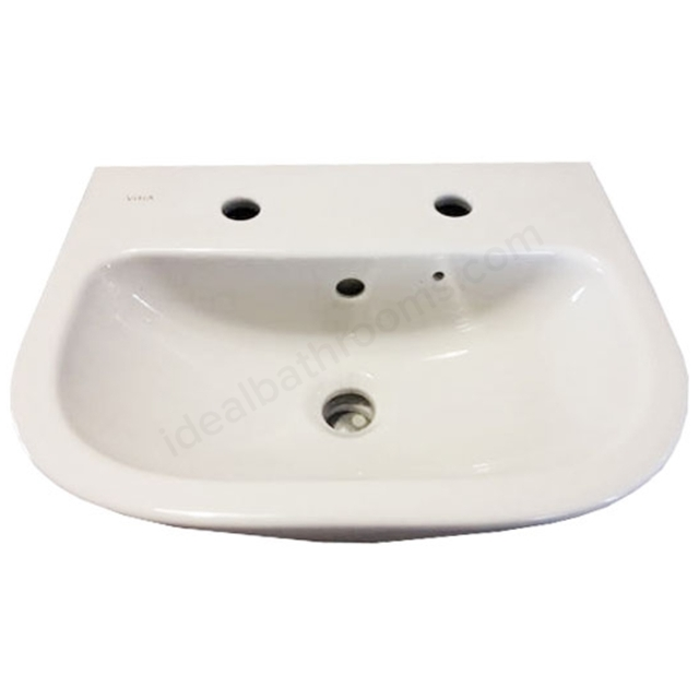 Vitra S20 450mm Washbasin 2 Tap Holes