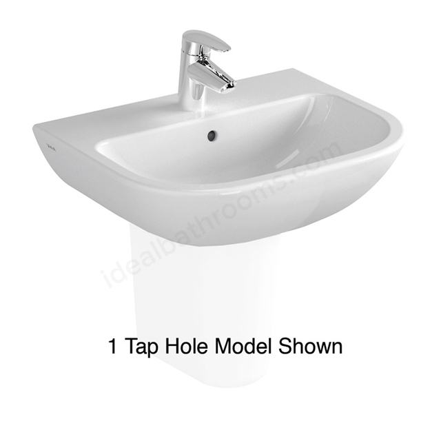 Vitra S20 Cloakroom Basin; 2 Tap Hole; 500mm Wide; White