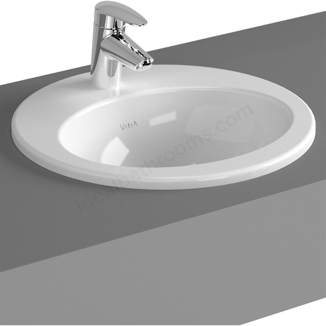 Vitra S20 430mm Washbasin 1 Tap Hole