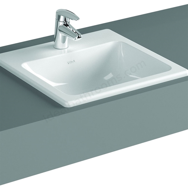 Vitra S20 500mm Washbasin 1 Tap Hole