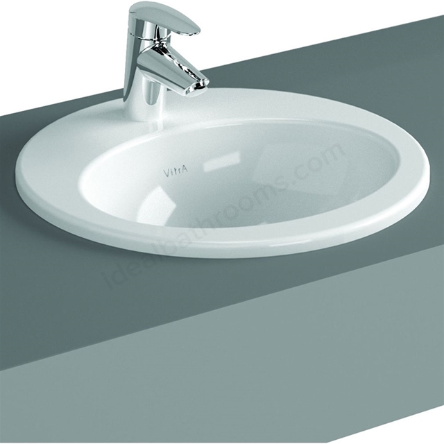 Vitra S20 530mm Washbasin 1 Tap Hole