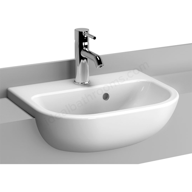 Vitra S20 450mm Washbasin 1 Tap Hole