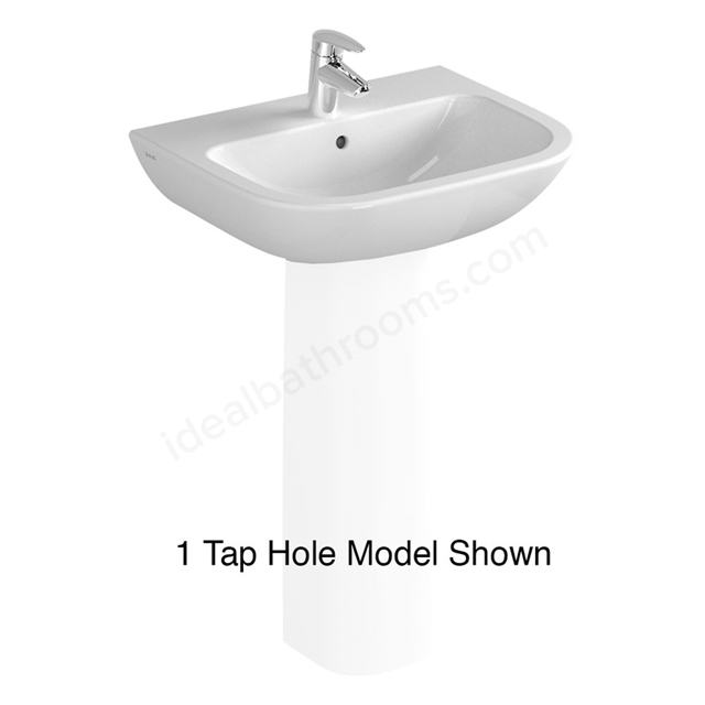Vitra S20 550mm Washbasin 2 Tap Holes