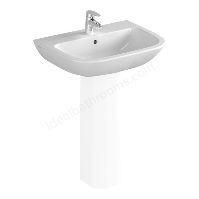 Vitra S20 600mm Washbasin 1 Tap Hole