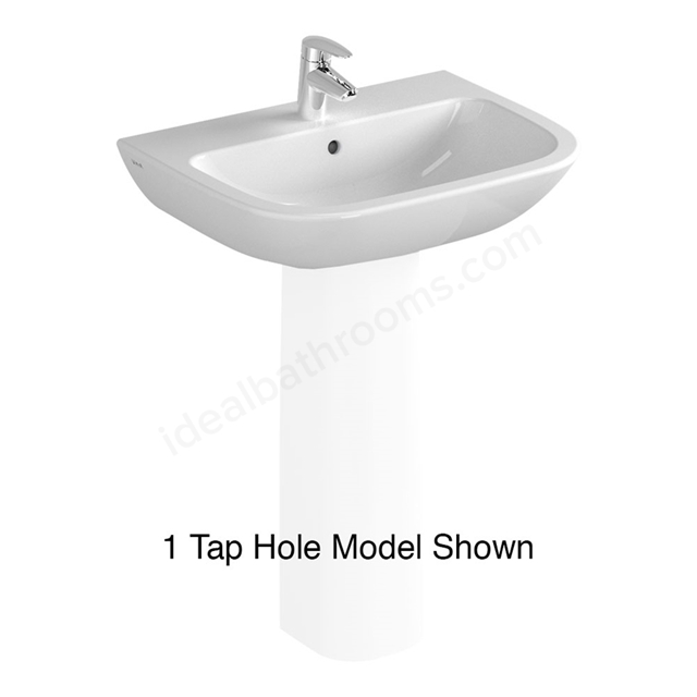 Vitra S20 600mm Washbasin 2 Tap Holes