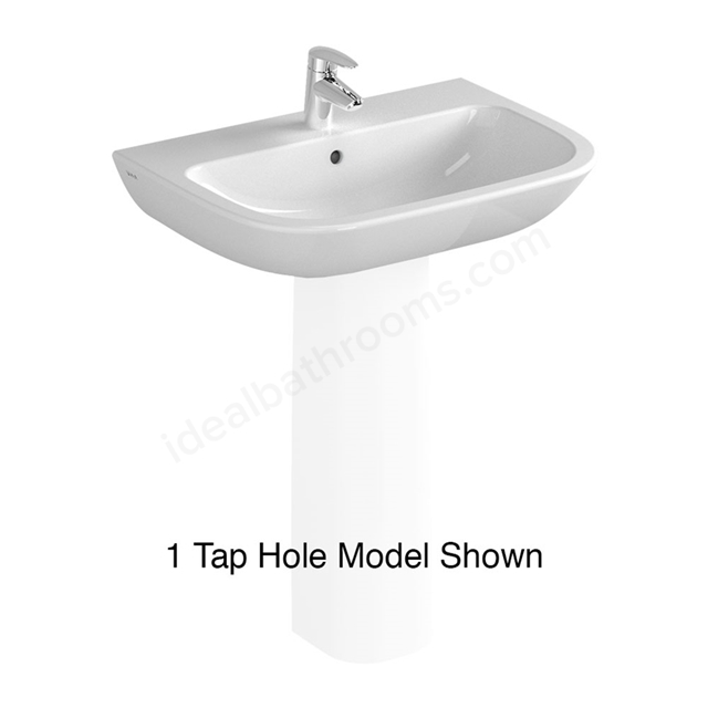 Vitra S20 650mm Washbasin 2 Tap Holes