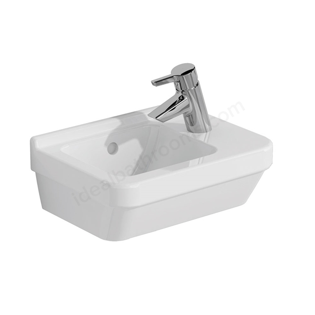 Vitra S50 Compact Washbasin; 1 Tap Hole; 400mm Wide; Right Handed; White